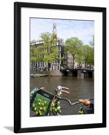 Zuiderkerk and Canal, Amsterdam, Holland, Europe-Frank Fell-Framed Photographic Print