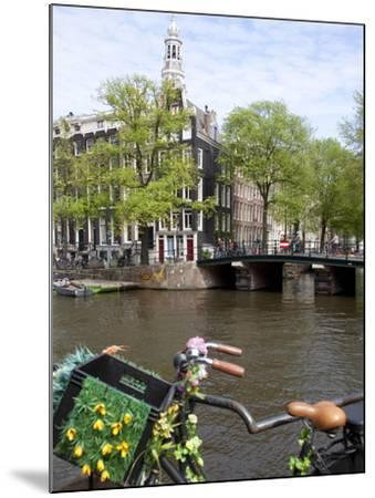 Zuiderkerk and Canal, Amsterdam, Holland, Europe-Frank Fell-Mounted Photographic Print
