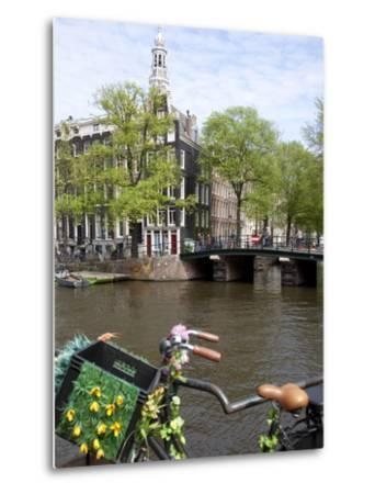 Zuiderkerk and Canal, Amsterdam, Holland, Europe-Frank Fell-Metal Print