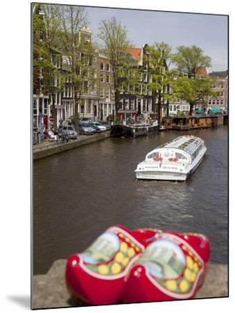 Souvenir Clogs and Canal, Amsterdam, Holland, Europe-Frank Fell-Mounted Photographic Print