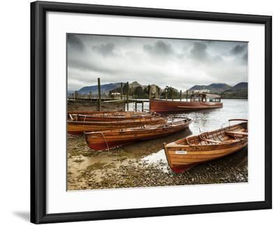 Keswick Launch Boats, Derwent Water, Lake District National Park, Cumbria, England-Chris Hepburn-Framed Photographic Print