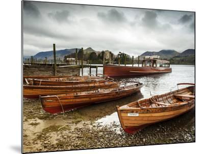 Keswick Launch Boats, Derwent Water, Lake District National Park, Cumbria, England-Chris Hepburn-Mounted Photographic Print