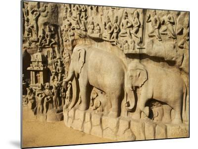 Arjuna's Penance Granite Carvings, Mamallapuram (Mahabalipuram), UNESCO World Heritage Site, India-Tuul-Mounted Photographic Print