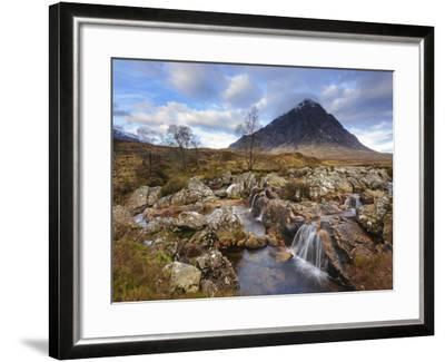 Buachaille Etive Mor and the River Coupall, Glen Etive, Rannoch Moor, Western Highlands, Scotland-Chris Hepburn-Framed Photographic Print