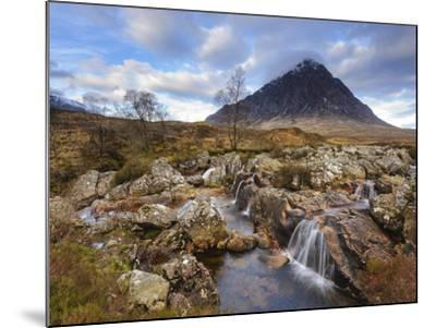 Buachaille Etive Mor and the River Coupall, Glen Etive, Rannoch Moor, Western Highlands, Scotland-Chris Hepburn-Mounted Photographic Print