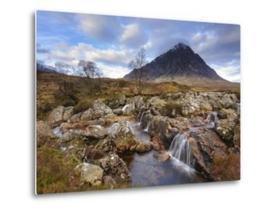 Buachaille Etive Mor and the River Coupall, Glen Etive, Rannoch Moor, Western Highlands, Scotland-Chris Hepburn-Metal Print
