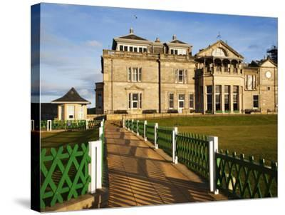 Royal and Ancient Golf Club, St. Andrews, Fife, Scotland, United Kingdom, Europe-Mark Sunderland-Stretched Canvas Print