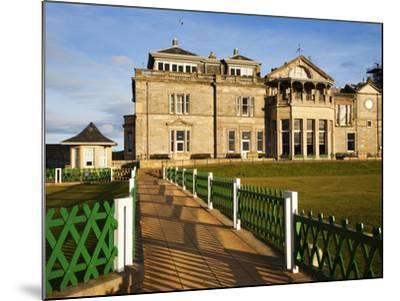 Royal and Ancient Golf Club, St. Andrews, Fife, Scotland, United Kingdom, Europe-Mark Sunderland-Mounted Photographic Print