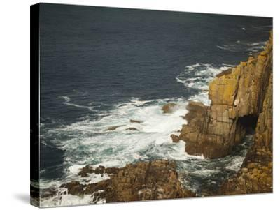 Sea Arch and Stacked Rocks at Land's End, Cornwall, England, United Kingdom, Europe-Ian Egner-Stretched Canvas Print