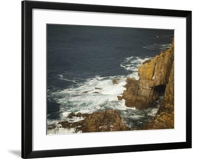 Sea Arch and Stacked Rocks at Land's End, Cornwall, England, United Kingdom, Europe-Ian Egner-Framed Photographic Print