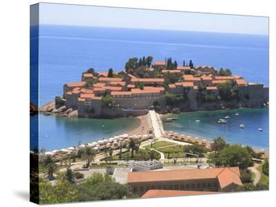 Sveti Stefan, Montenegro, Europe-Rolf Richardson-Stretched Canvas Print