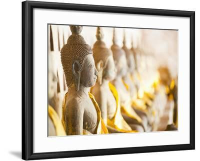 Buddhas at Wat Si Saket, the Oldest Temple in Vientiane, Laos, Indochina, Southeast Asia, Asia-Matthew Williams-Ellis-Framed Photographic Print