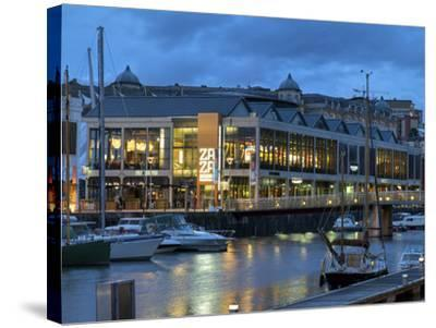 Harbourside Bars and Restaurants, Bristol, England, United Kingdom, Europe-Rob Cousins-Stretched Canvas Print