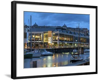 Harbourside Bars and Restaurants, Bristol, England, United Kingdom, Europe-Rob Cousins-Framed Photographic Print