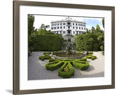 Villa Carlotta and Gardens in Spring Sunshine, Tremezzo, Lake Como, Lombardy, Northern Italy-Peter Barritt-Framed Photographic Print