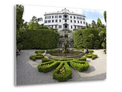 Villa Carlotta and Gardens in Spring Sunshine, Tremezzo, Lake Como, Lombardy, Northern Italy-Peter Barritt-Metal Print