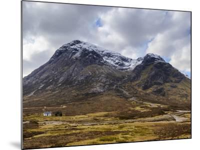 Single Small Cottage and Buachaille Etive Mor, Rannoch Moor, Glencoe, Highland Region, Scotland-Chris Hepburn-Mounted Photographic Print