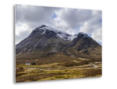 Single Small Cottage and Buachaille Etive Mor, Rannoch Moor, Glencoe, Highland Region, Scotland-Chris Hepburn-Metal Print