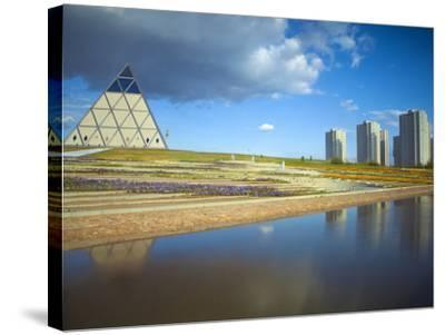 Palace of Peace and Reconciliation Pyramid Designed by Sir Norman Foster, Astana, Kazakhstan-Jane Sweeney-Stretched Canvas Print