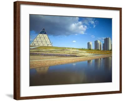 Palace of Peace and Reconciliation Pyramid Designed by Sir Norman Foster, Astana, Kazakhstan-Jane Sweeney-Framed Photographic Print