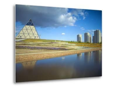 Palace of Peace and Reconciliation Pyramid Designed by Sir Norman Foster, Astana, Kazakhstan-Jane Sweeney-Metal Print
