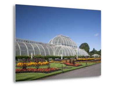 Palm House Parterre with Floral Display, Royal Botanic Gardens, UNESCO World Heritage Site, England-Adina Tovy-Metal Print