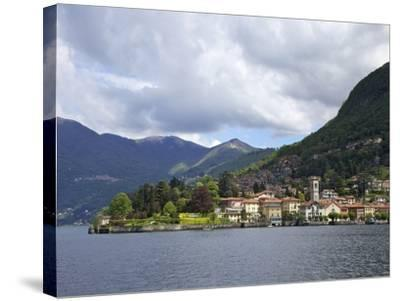 View of Torno in Spring Sunshine, Lake Como, Lombardy, Italian Lakes, Italy, Europe-Peter Barritt-Stretched Canvas Print