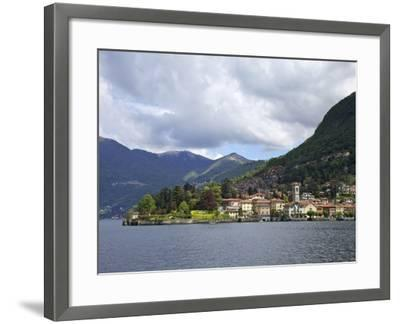 View of Torno in Spring Sunshine, Lake Como, Lombardy, Italian Lakes, Italy, Europe-Peter Barritt-Framed Photographic Print