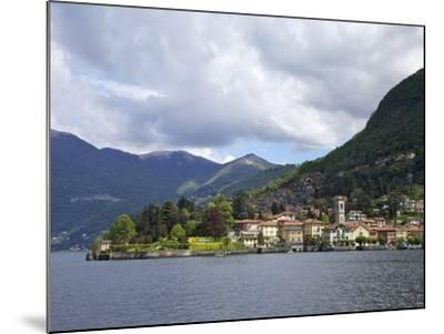 View of Torno in Spring Sunshine, Lake Como, Lombardy, Italian Lakes, Italy, Europe-Peter Barritt-Mounted Photographic Print