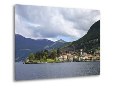 View of Torno in Spring Sunshine, Lake Como, Lombardy, Italian Lakes, Italy, Europe-Peter Barritt-Metal Print