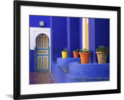 Majorelle Gardens, Marrakesh, Morocco, North Africa, Africa-Frank Fell-Framed Photographic Print