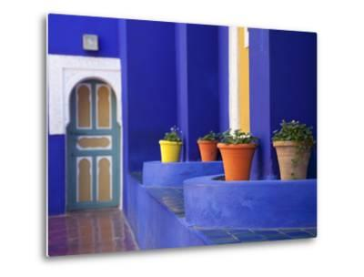 Majorelle Gardens, Marrakesh, Morocco, North Africa, Africa-Frank Fell-Metal Print