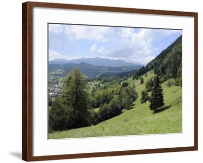 Overview of Podhom Village Near Bled, Julian Alps, Slovenia, Slovenian, Europe, European-Nick Upton-Framed Photographic Print