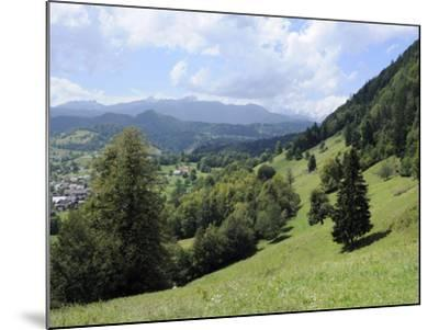 Overview of Podhom Village Near Bled, Julian Alps, Slovenia, Slovenian, Europe, European-Nick Upton-Mounted Photographic Print