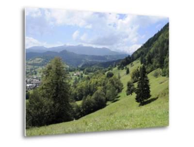 Overview of Podhom Village Near Bled, Julian Alps, Slovenia, Slovenian, Europe, European-Nick Upton-Metal Print