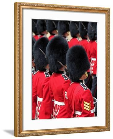 Soldiers at Trooping Colour 2012, Queen's Official Birthday Parade, Horse Guards, London, England-Hans Peter Merten-Framed Photographic Print