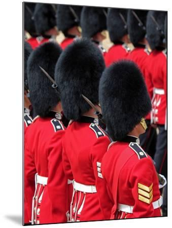 Soldiers at Trooping Colour 2012, Queen's Official Birthday Parade, Horse Guards, London, England-Hans Peter Merten-Mounted Photographic Print