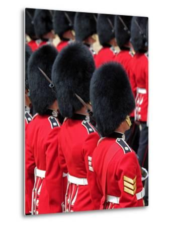 Soldiers at Trooping Colour 2012, Queen's Official Birthday Parade, Horse Guards, London, England-Hans Peter Merten-Metal Print