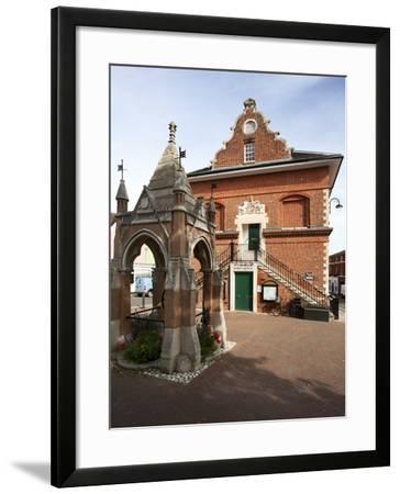 Market Cross and Shire Hall on Market Hill, Woodbridge, Suffolk, England, United Kingdom, Europe-Mark Sunderland-Framed Photographic Print