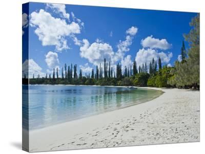 White Sand Beach, Bay de Kanumera, Ile Des Pins, New Caledonia, Melanesia, South Pacific, Pacific-Michael Runkel-Stretched Canvas Print