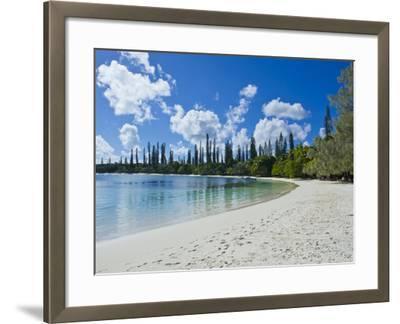 White Sand Beach, Bay de Kanumera, Ile Des Pins, New Caledonia, Melanesia, South Pacific, Pacific-Michael Runkel-Framed Photographic Print