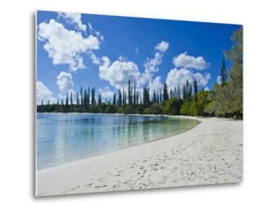 White Sand Beach, Bay de Kanumera, Ile Des Pins, New Caledonia, Melanesia, South Pacific, Pacific-Michael Runkel-Metal Print