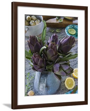 Artichokes, Italy, Europe-Nico Tondini-Framed Photographic Print