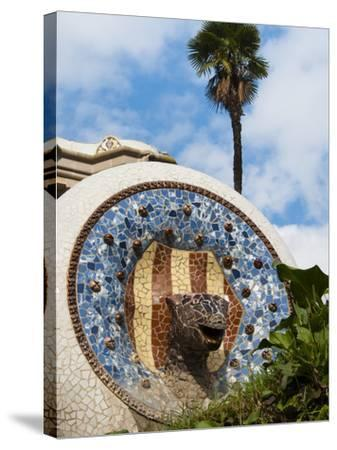 Guell Park (Parc Guell), UNESCO World Heritage Site, Barcelona, Catalunya (Catalonia), Spain-Nico Tondini-Stretched Canvas Print