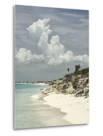Deserted Island (Cay), Eastern Providenciales, Turks and Caicos Islands, West Indies, Caribbean-Kim Walker-Metal Print