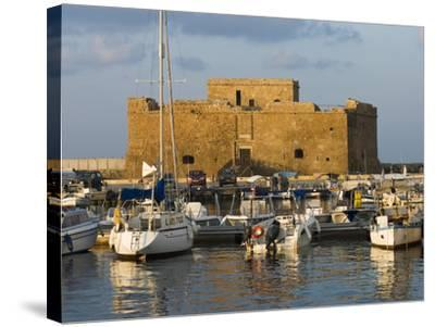 The Harbour and Paphos Fort, Paphos, Cyprus, Mediterranean, Europe-Stuart Black-Stretched Canvas Print