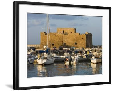 The Harbour and Paphos Fort, Paphos, Cyprus, Mediterranean, Europe-Stuart Black-Framed Photographic Print