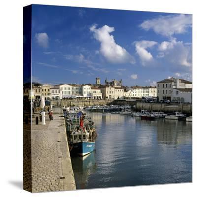 Harbour and Abbey, St. Martin, Ile de Re, Poitou-Charentes, France, Europe-Stuart Black-Stretched Canvas Print
