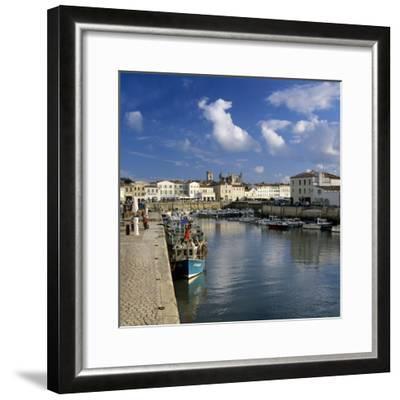 Harbour and Abbey, St. Martin, Ile de Re, Poitou-Charentes, France, Europe-Stuart Black-Framed Photographic Print