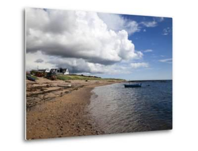 Fishing Boats on the Beach at Carnoustie, Angus, Scotland, United Kingdom, Europe-Mark Sunderland-Metal Print